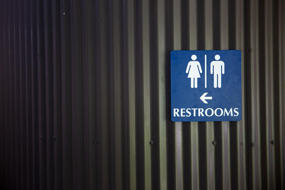 restrooms signage