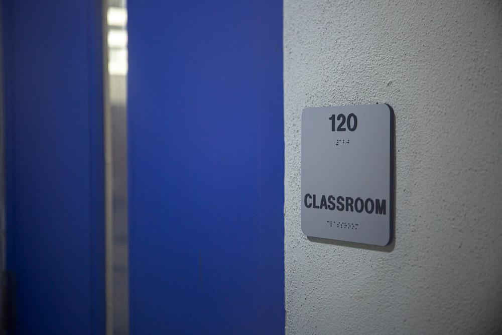 classroom signage